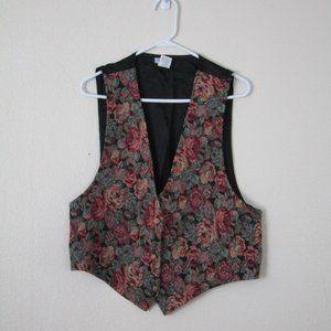 VTG Floral Tapestry Vest, XL